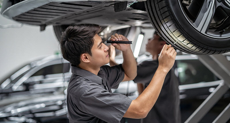 Lexus Tire Inspection